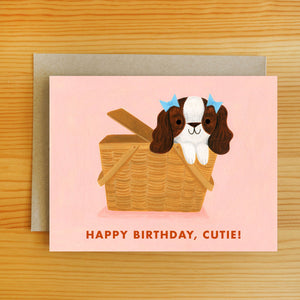 Picnic Pup Birthday Card