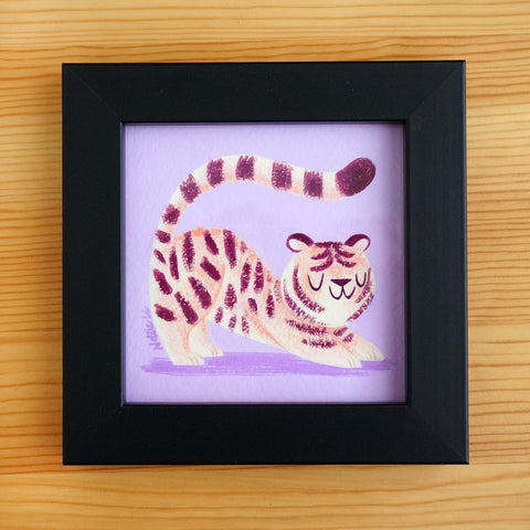 Plum Tiger - Mini Painting