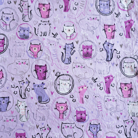 *PRE-ORDER* Portrait Cats (Purple) - Fitted Face Mask