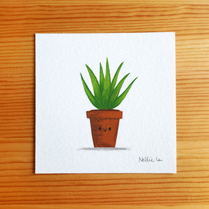 Potted Aloe - Mini Painting