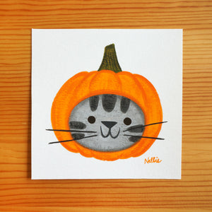 Pumpkinhead Grey Tabby - Mini Painting
