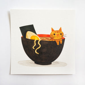 Ramen Cat - Mini Painting