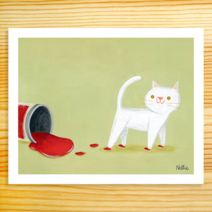 Caught Red-Pawed - 8x10 Print