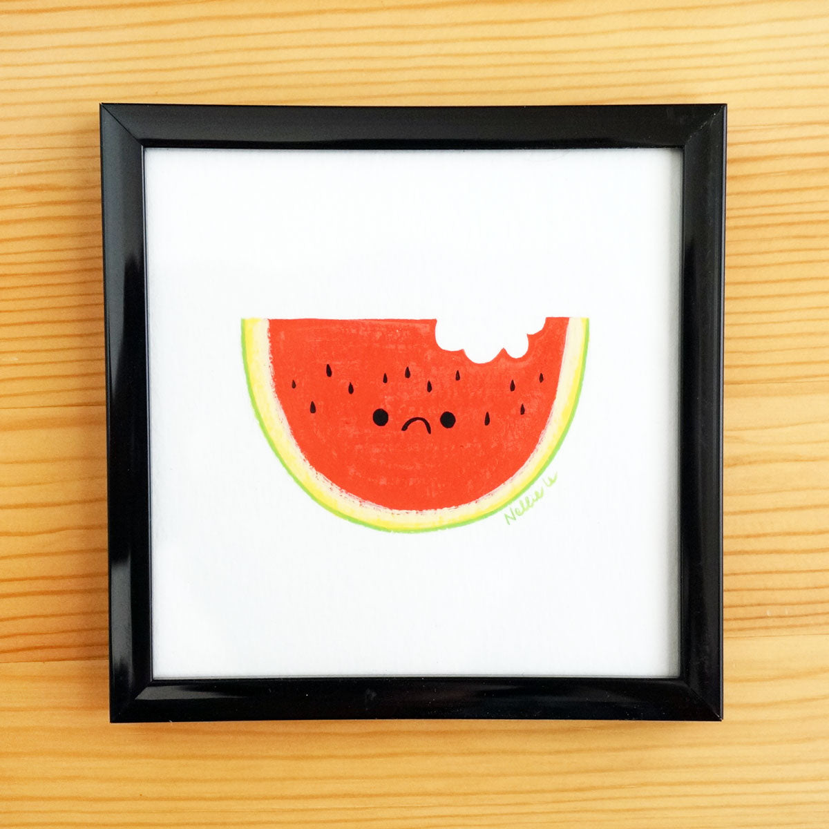 Sad Watermelon - Mini Painting
