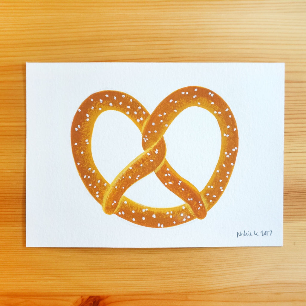 Salted Pretzel - 5x7 Painting