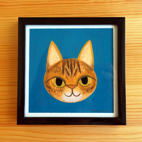 Savannah Cat - 4x4 Painting