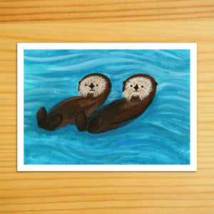 Sea Otters Together - 5x7 Print