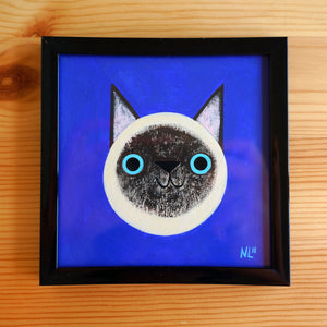 Siamese Cat 3 - Mini Painting