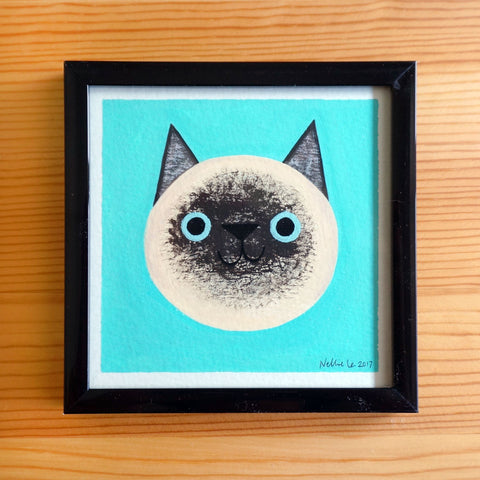 Siamese Cat - 4x4 Painting