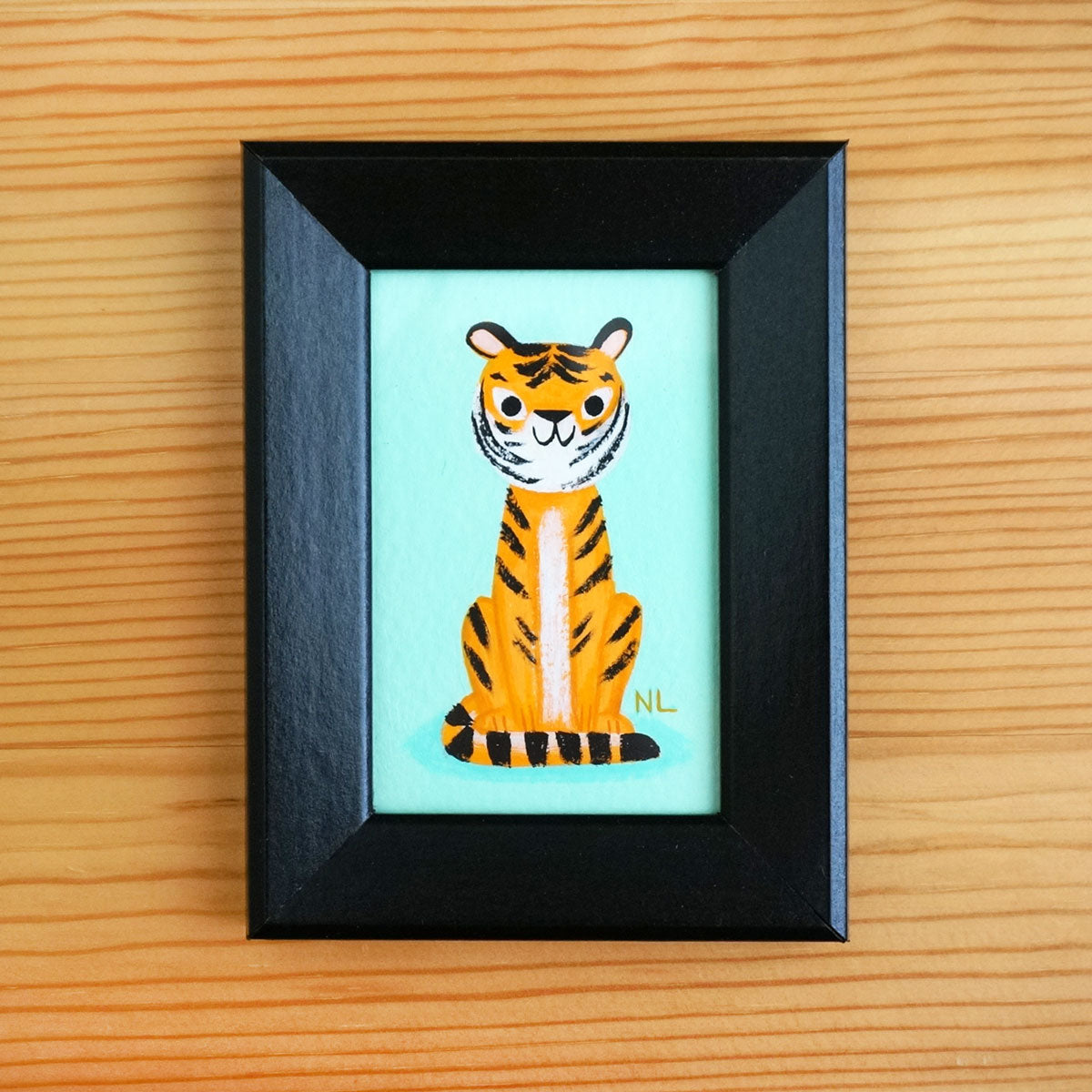 Sitting Tiger - Tiny Painting