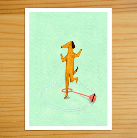 Skip Loves Skip-It - 5x7 Print