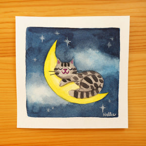 Sleeping on the Moon - Mini Painting