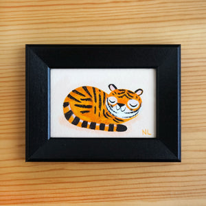 Sleeping Tiger - Tiny Painting
