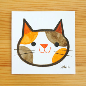 Smiling Calico - Mini Painting