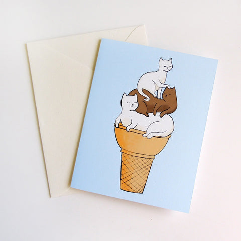 Soft Serve Kitties Card