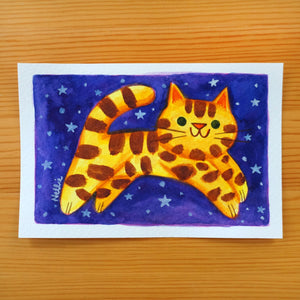 Starry Cat - Mini Painting