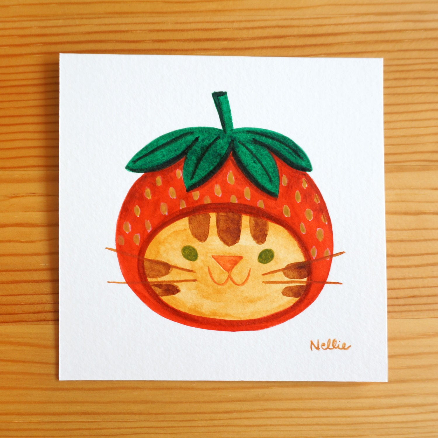 Strawberry Hat 5 - Mini Painting