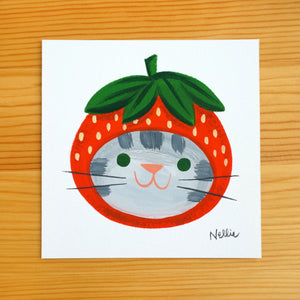 Strawberry Hat 6 - Mini Painting