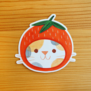 Strawberry Hat Sticker