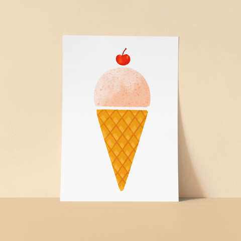 Strawberry Ice Cream - 5x7 Print