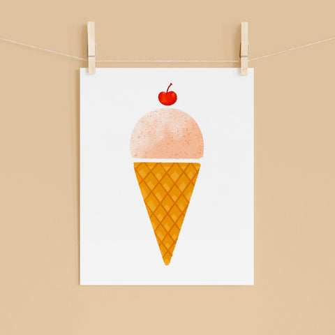 Strawberry Ice Cream - 8x10 Print