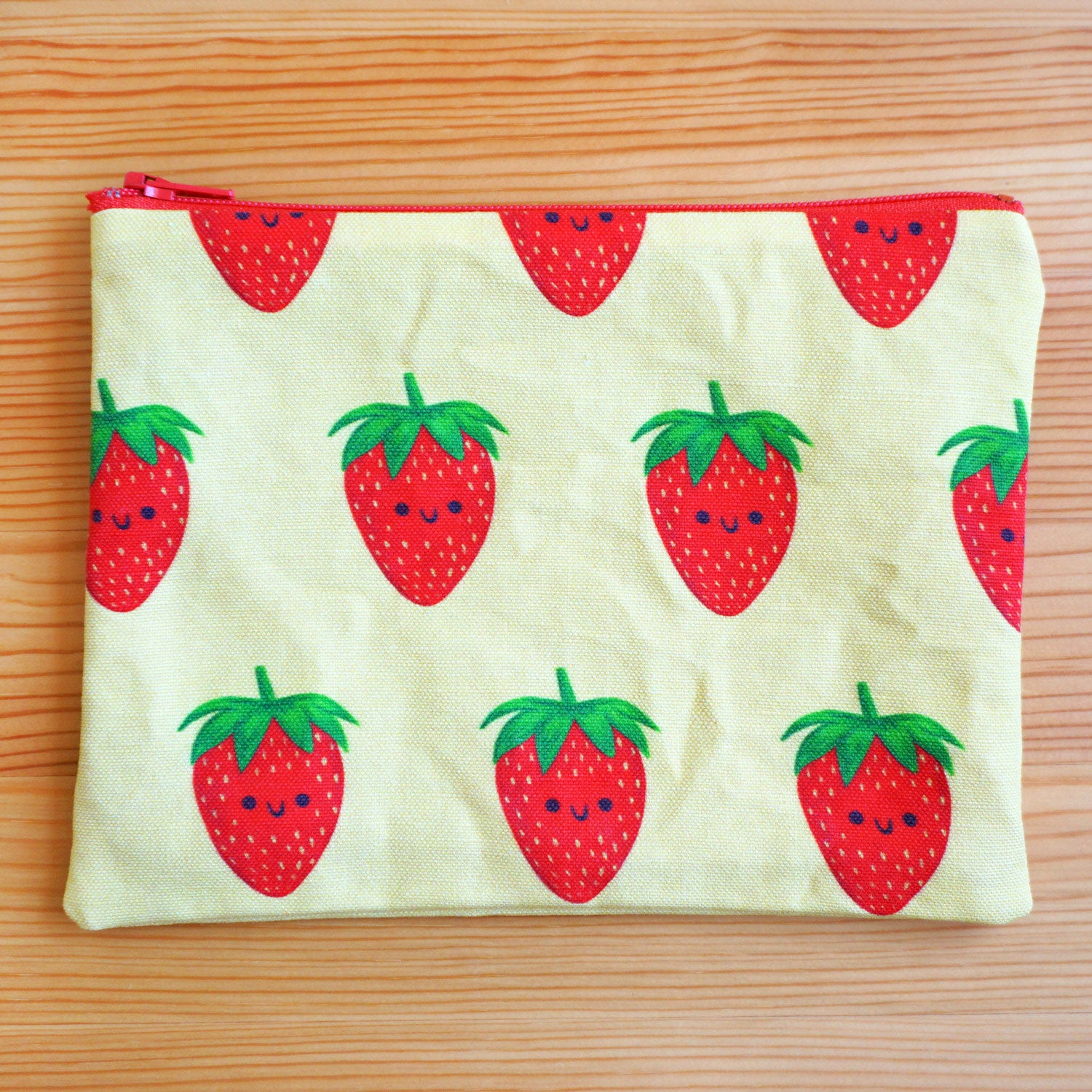 Strawberry Zip Pouch - Small