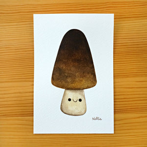 Tall Straw Mushroom - Mini Painting