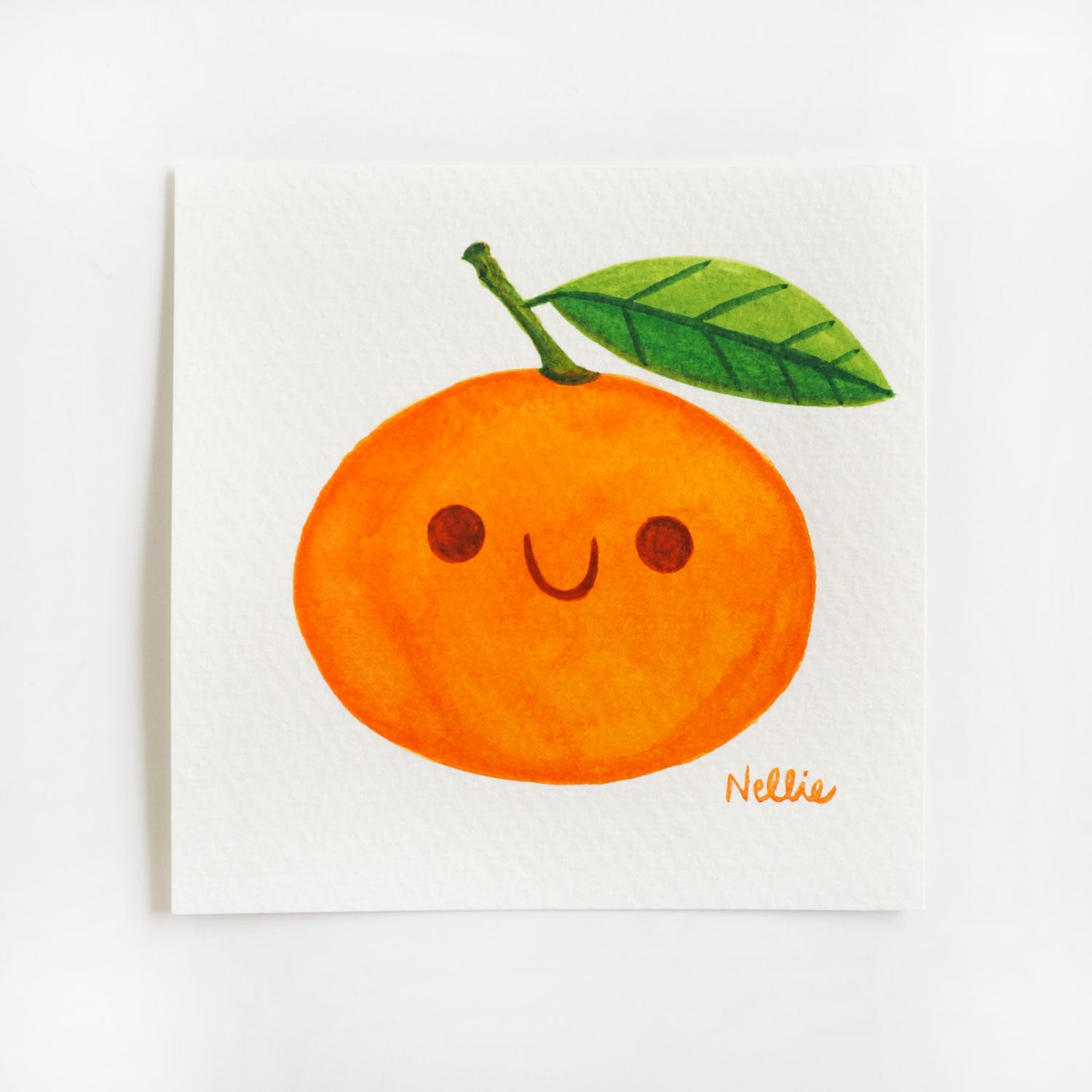 Tangerine Friend - Mini Painting