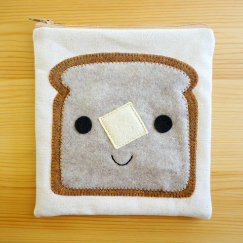 Buttered Toast Zip Pouch
