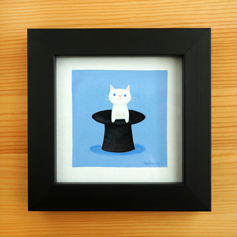 Top Hat Cat - Mini Painting