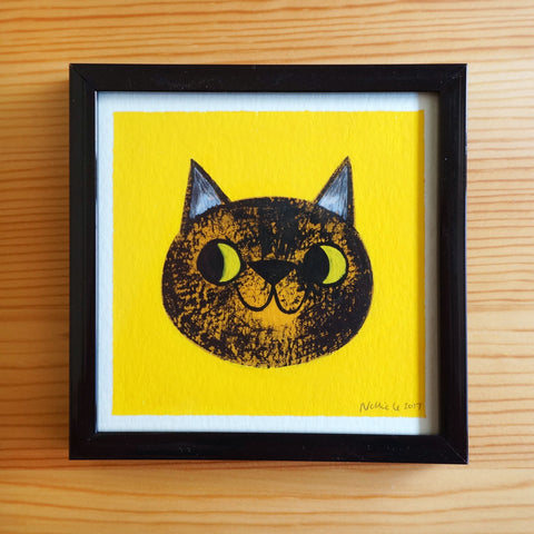 Tortie Cat 2 - 4x4 Painting