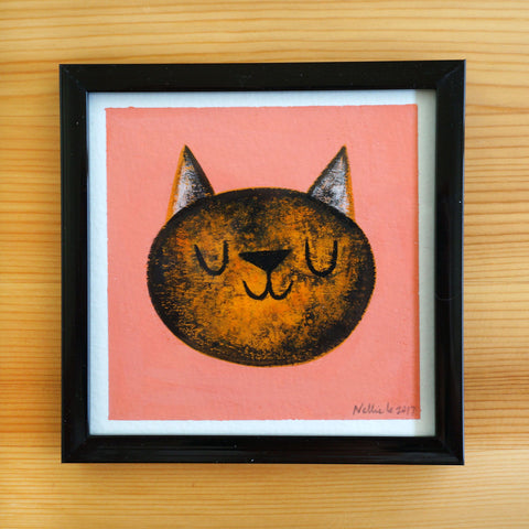 Tortie Cat - 4x4 Painting