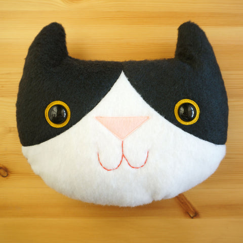Timmy the Tuxedo Cat Pillow