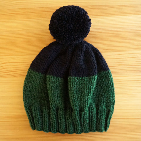 Two-Tone Hat in Black/Forest Green