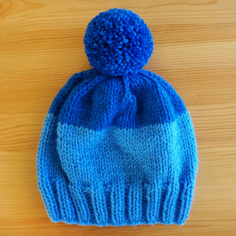 Two-Tone Hat in Blue