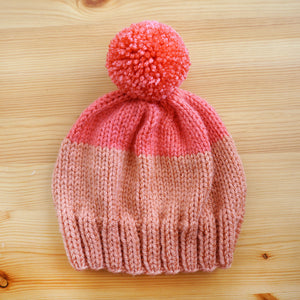 Two-Tone Hat in Peach