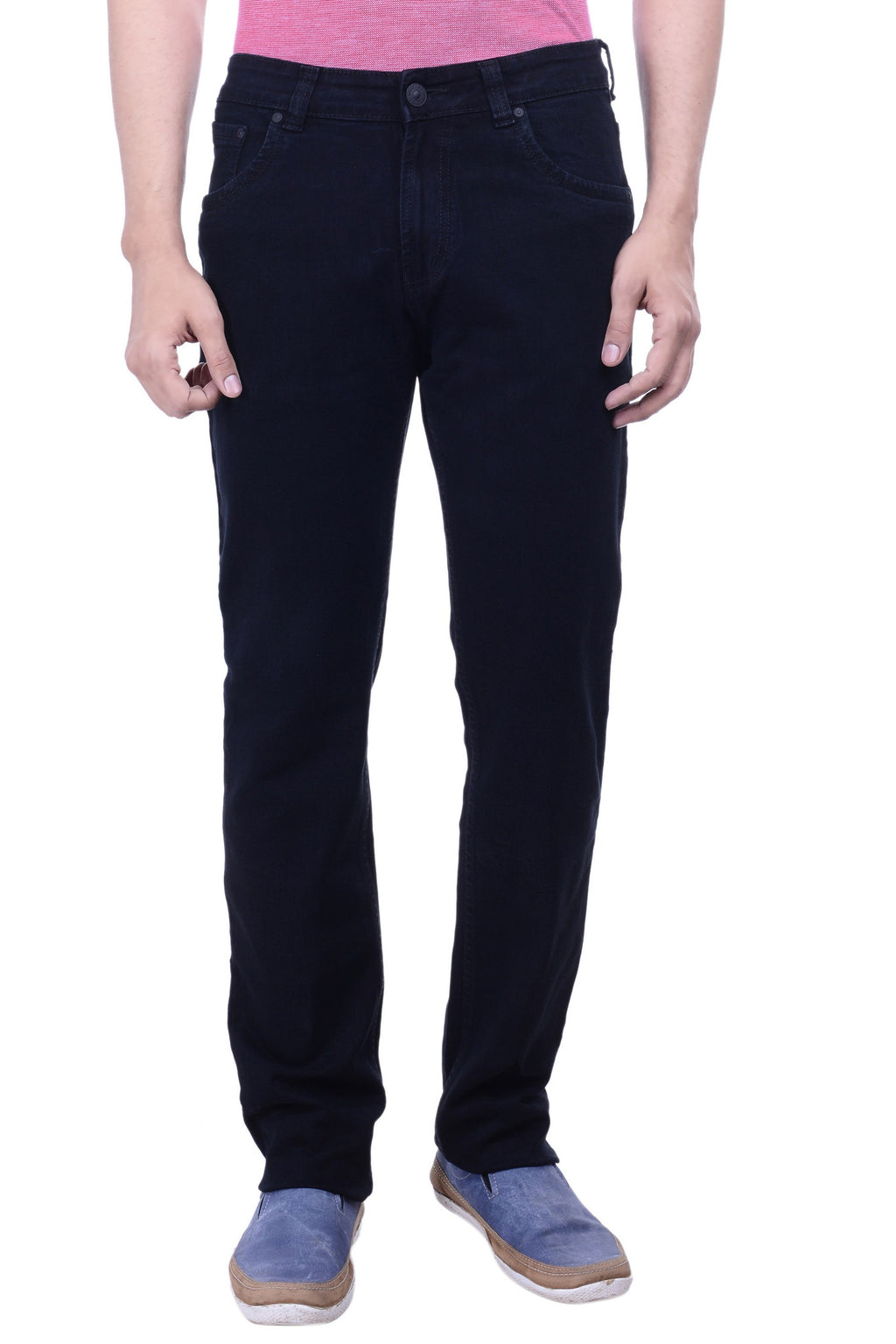 Hoffmen Slim Fit Men's Black Jeans BSG3903