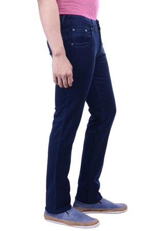 Hoffmen Men's Slim Fit  Silky Stretch Sapphire Blue Jeans BSG4909