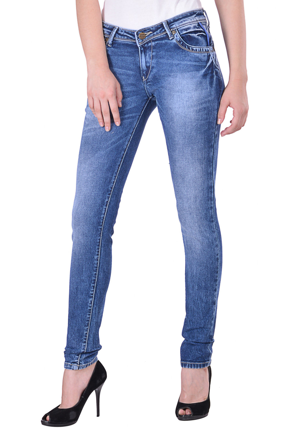 Hoffmen Slim Fit Women's Blue Jeans  MSB1202