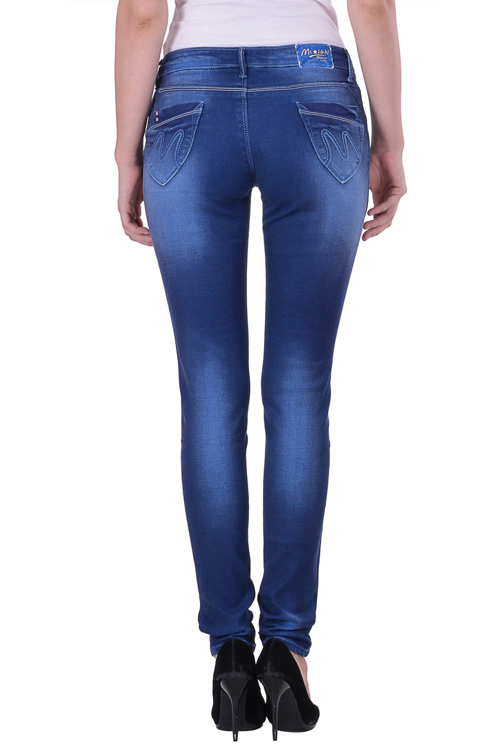 Hoffmen Slim Fit Women's Blue Jeans  MSB1205