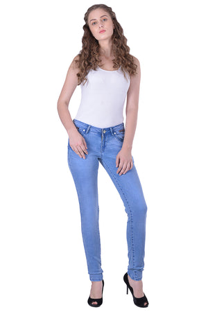 Hoffmen Slim Fit Women's Blue Jeans  MSB1206