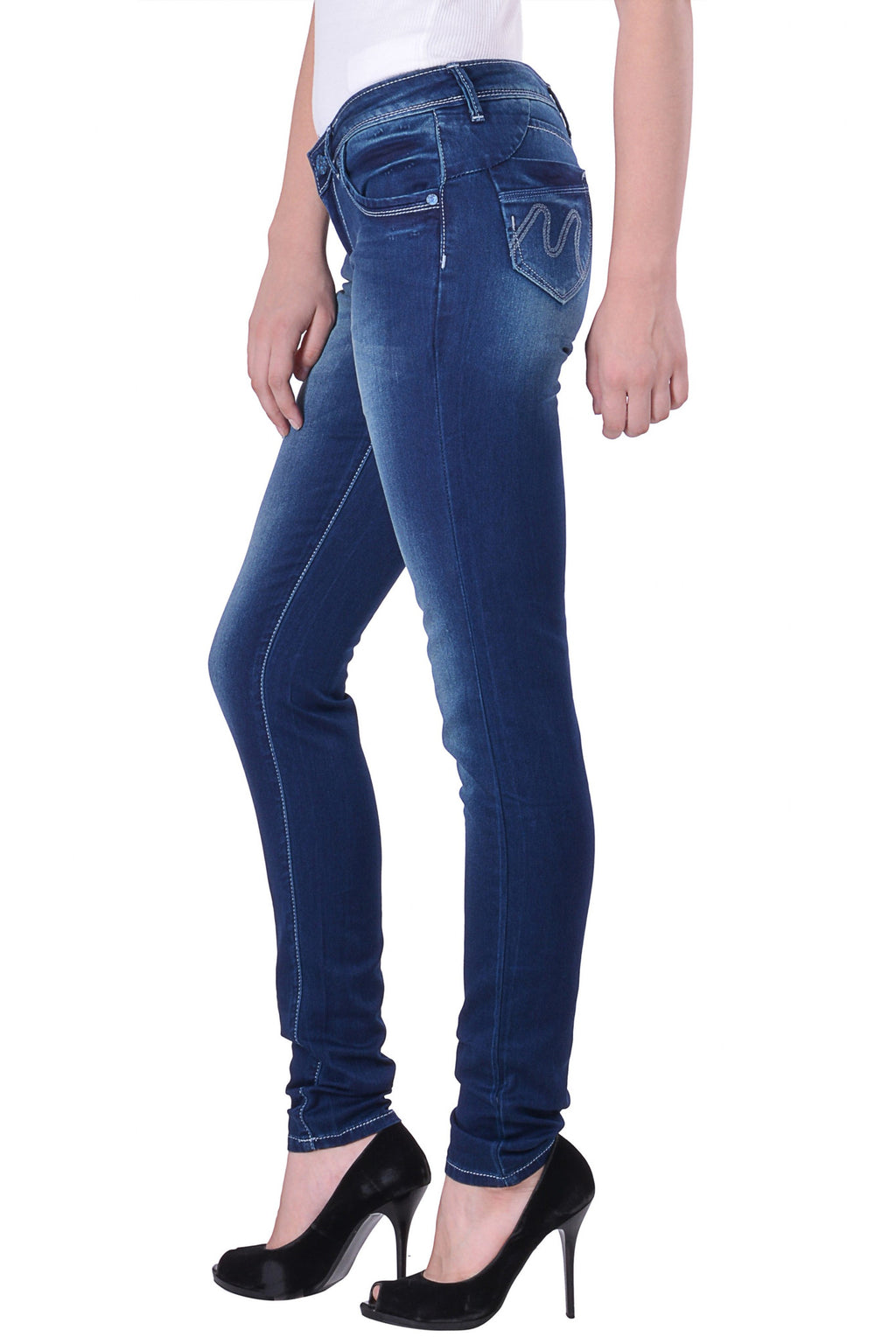 Hoffmen Slim Fit Women's Blue Jeans MSB1218