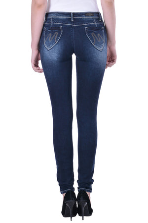 Hoffmen Slim Fit Women's Blue Jeans  MSB1219