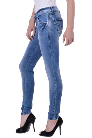 Hoffmen Slim Fit Women's Blue Jeans  MSB1235
