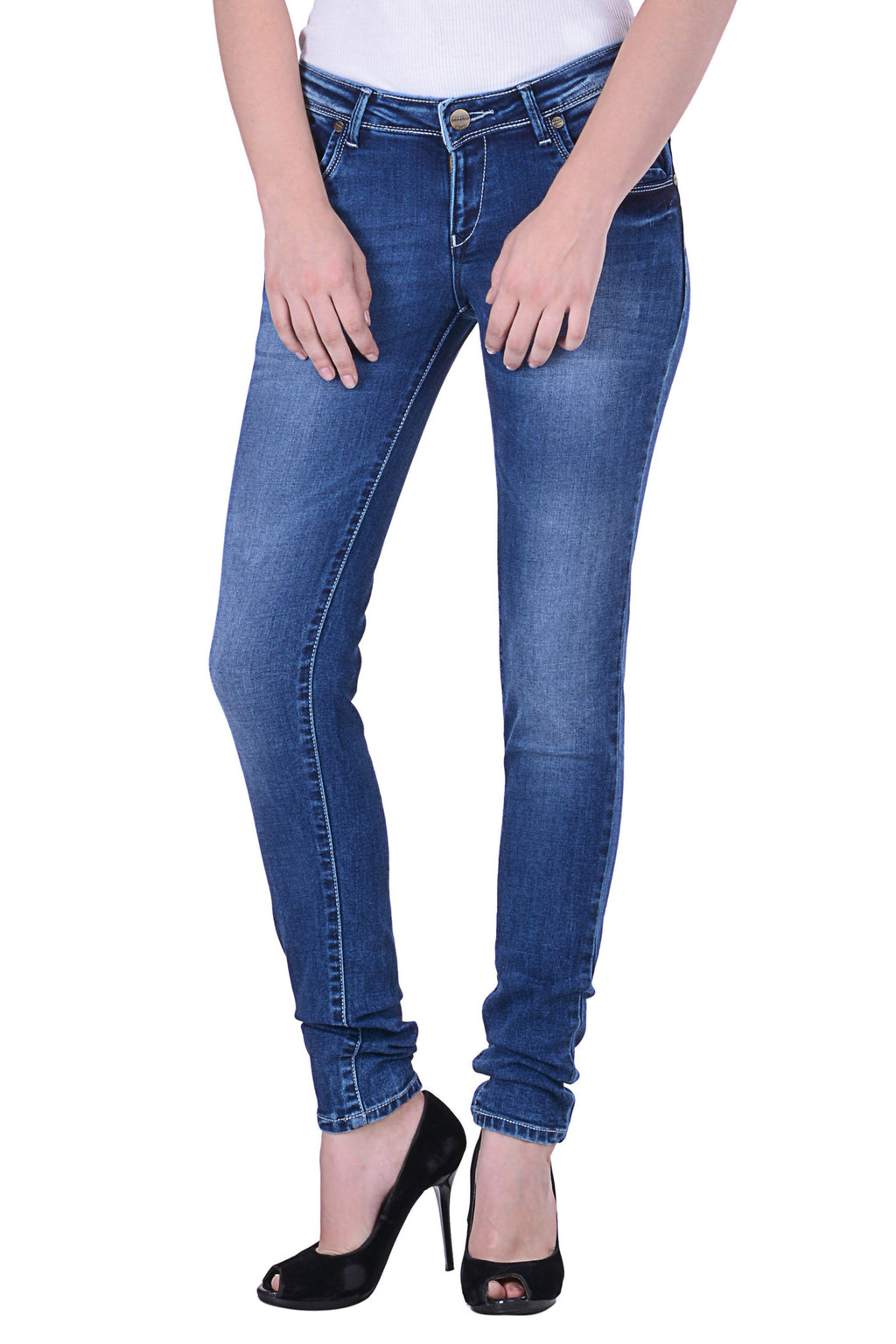 Hoffmen Slim Fit Women's Blue Jeans  MSB1243