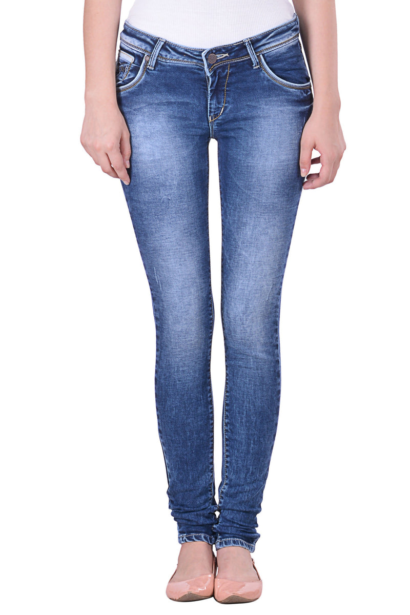 Hoffmen Slim Fit Women's Blue Jeans  MSB1248
