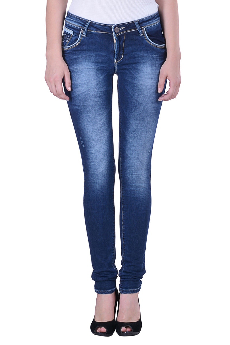 Hoffmen Slim Fit Women's Blue Jeans  MSB1249