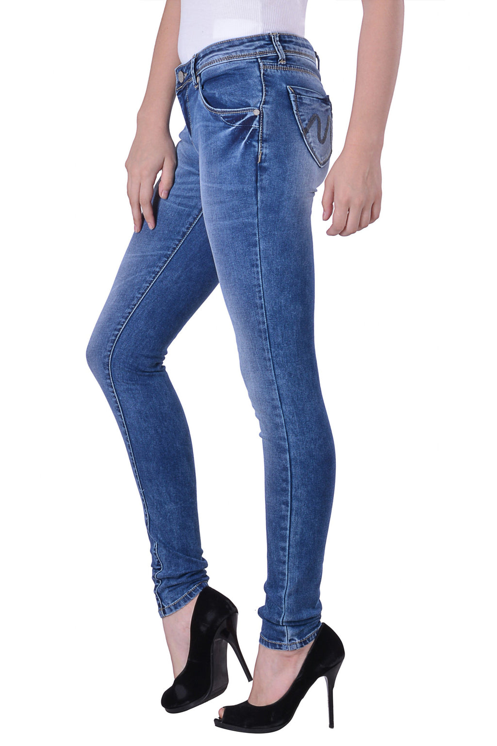 Hoffmen Slim Fit Women's Blue Jeans MSGS1250