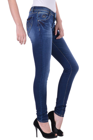 Hoffmen Slim Fit Women's Blue Jeans  MSB1251