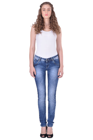 Hoffmen Slim Fit Women's Blue Jeans  MSB1258